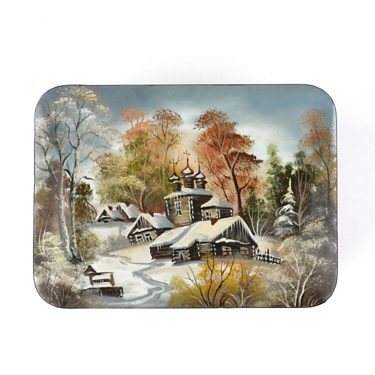 Fedoskino Winter Village Lacquer Box