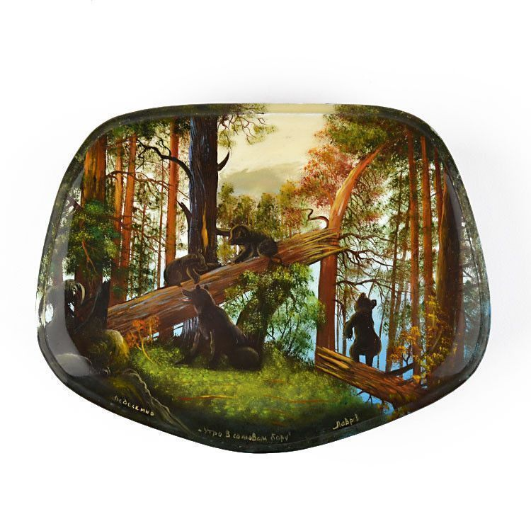 Morning in the Woods Lacquer Box
