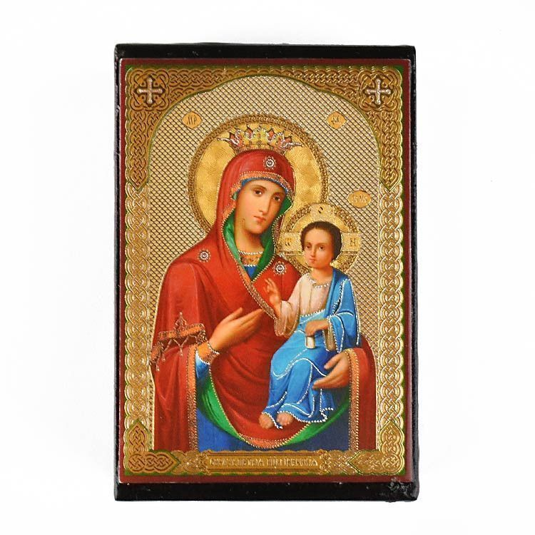 Guiding Mother of God Weeping Icon Lacquer Box