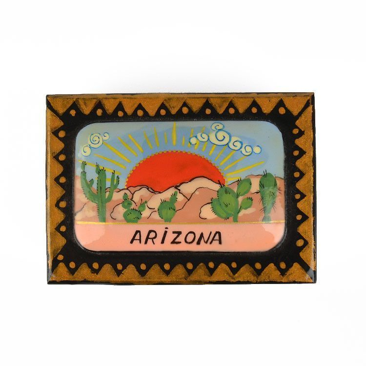 Arizona Landscape Lacquer Box