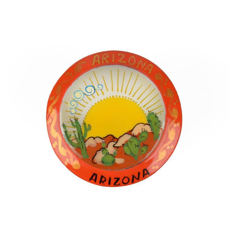 Round Arizona Lacquer Box