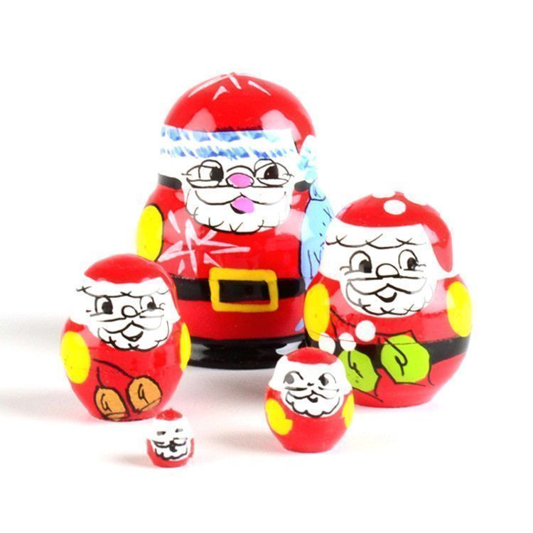 "1 1/4"" Tiny Santa Stacking Doll"