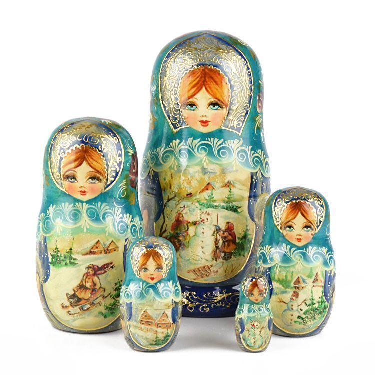 Fun in the Snow Matryoshka Doll