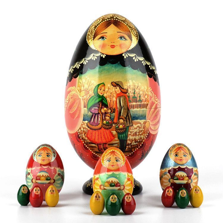 Russian Easter Nesting Egg 13pcs. Set