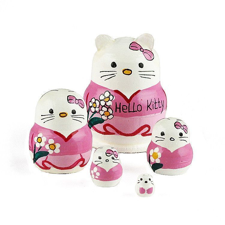 "1 1/4"" Tall Tiny Hello Kitty Matryoshka Doll"