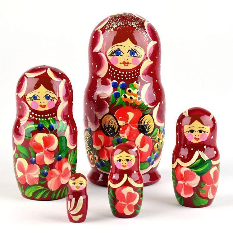 5 Sisters Floral Nesting Doll