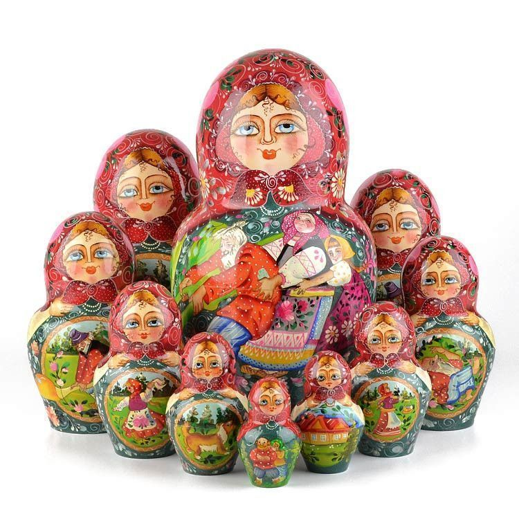 Great Turnip Fairytale Nesting Doll - AS IS