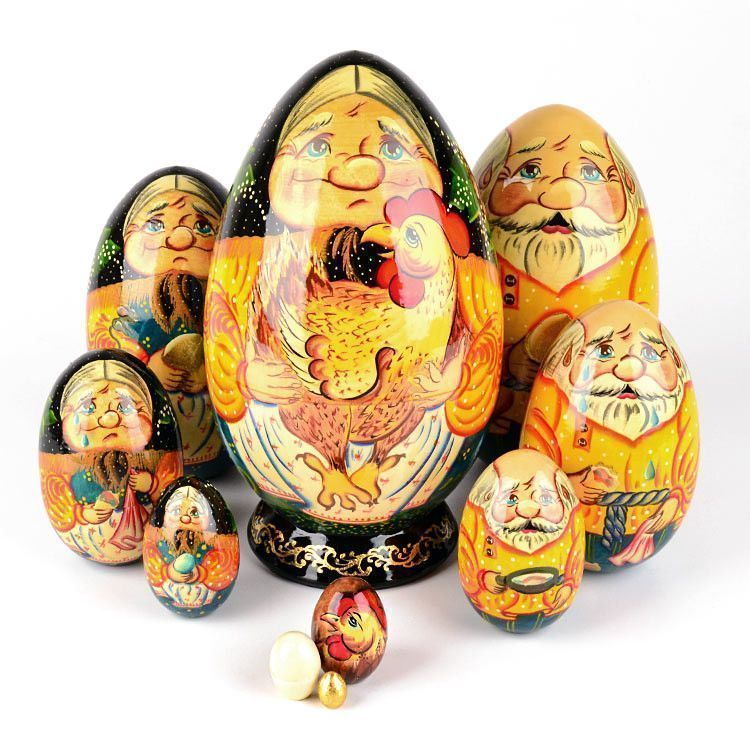 The Spotted Hen Tale Nesting Dolls