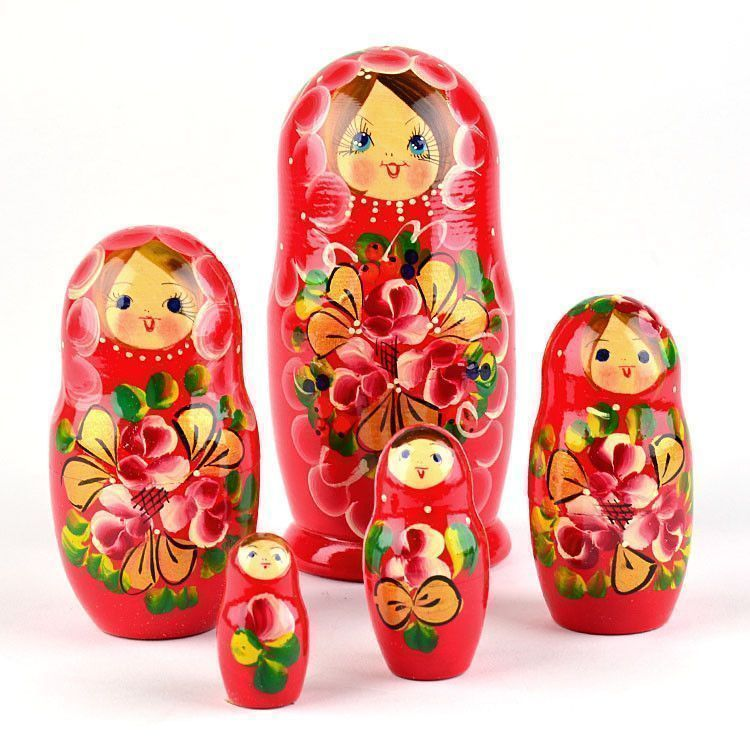 Traditional Russian Floral Nesting Doll