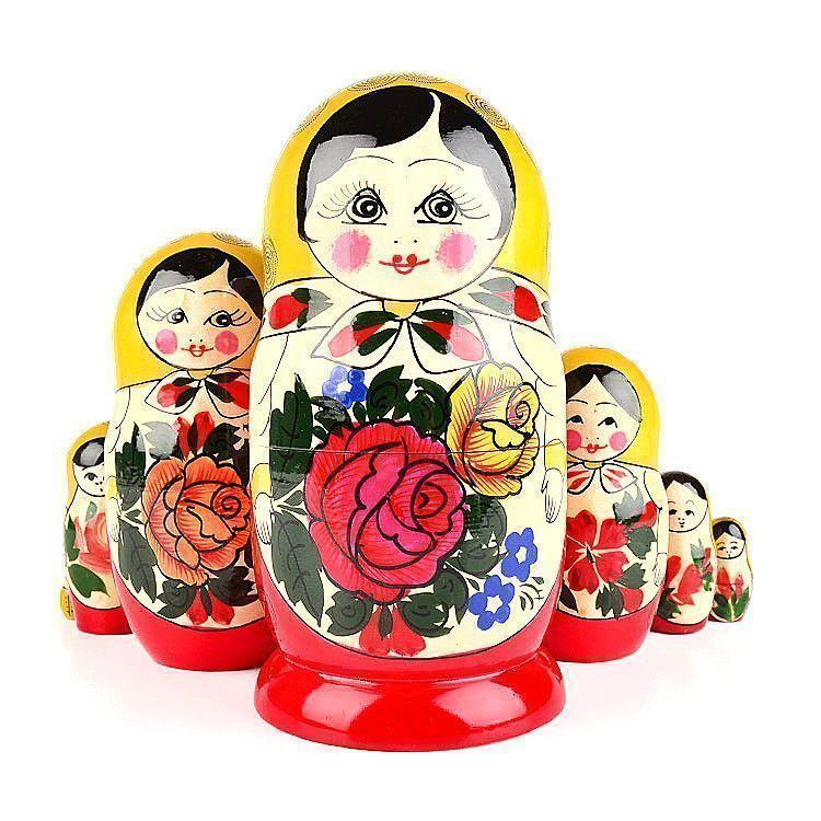 Red Roses 7 Pcs. Set of Dolls