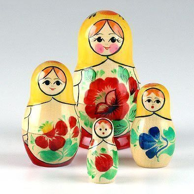 Floral Girls Nesting Dolls