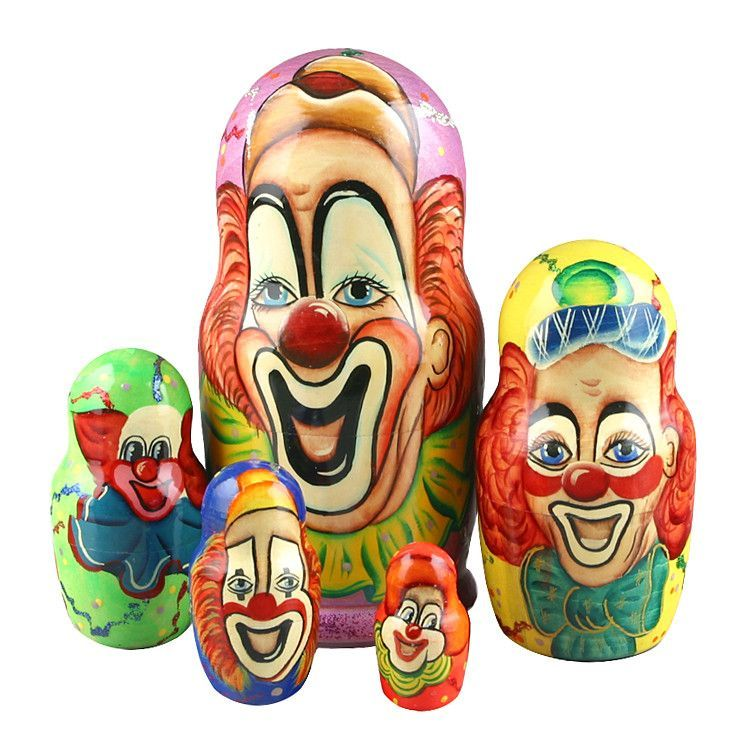 Laughing Clowns Matryoshka