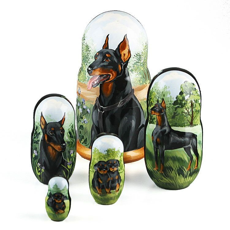 Doberman Pinscher Nesting Doll