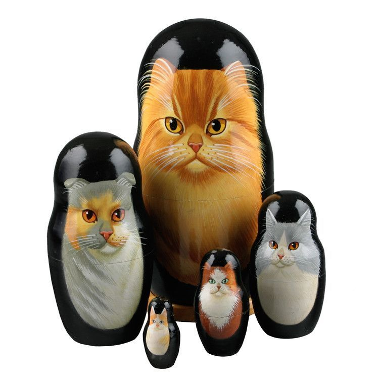 Cats Russian Matryoshka Doll
