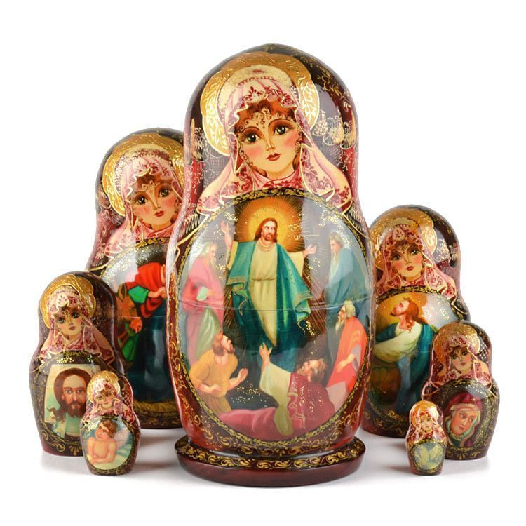 Life of Jesus Christ Nesting Dolls