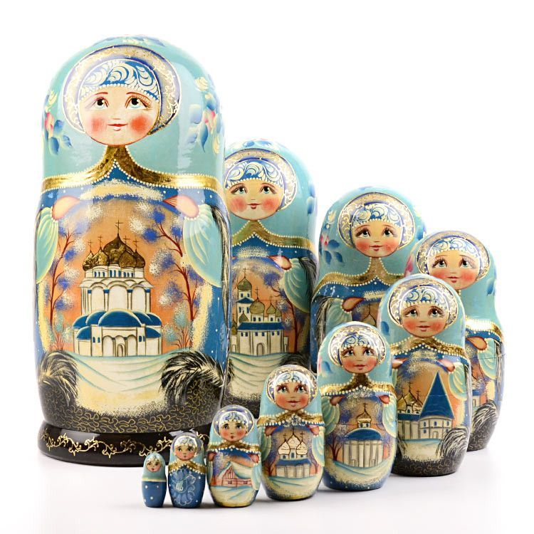 Golden Domes of Russian Churches Nested Doll
