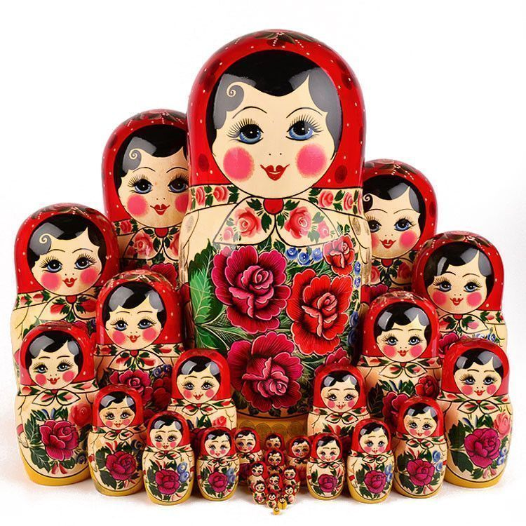 Traditional Semenov Nesting Doll 30 pcs. Set