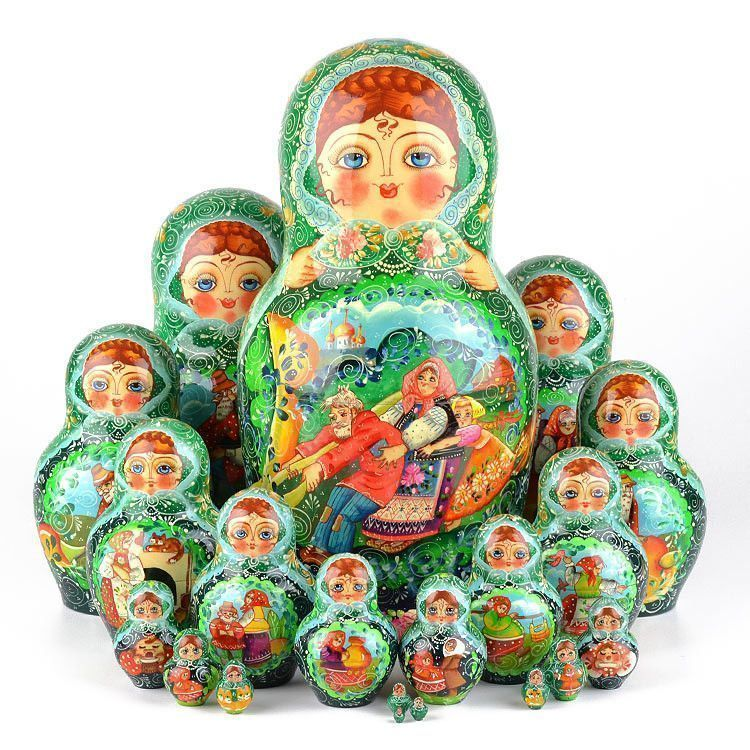Great Turnip Tale Nesting Dolls 20 pcs.