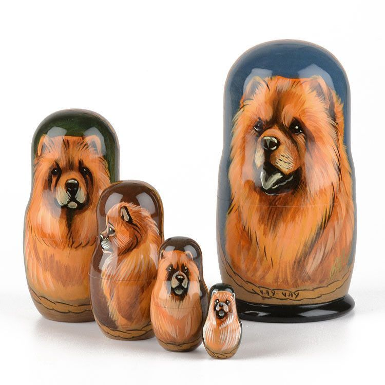 Chow Chow Dog Matryoshka