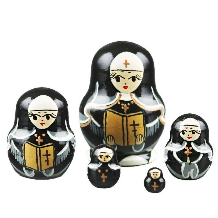 "1 1/2"" Tall Nuns Tiny Doll"