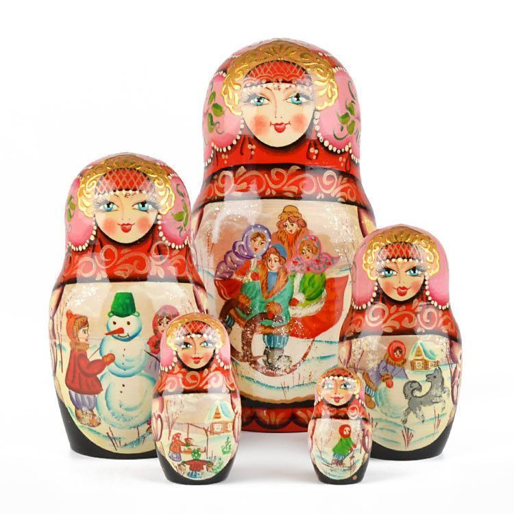 Winter Activities Nesting Doll