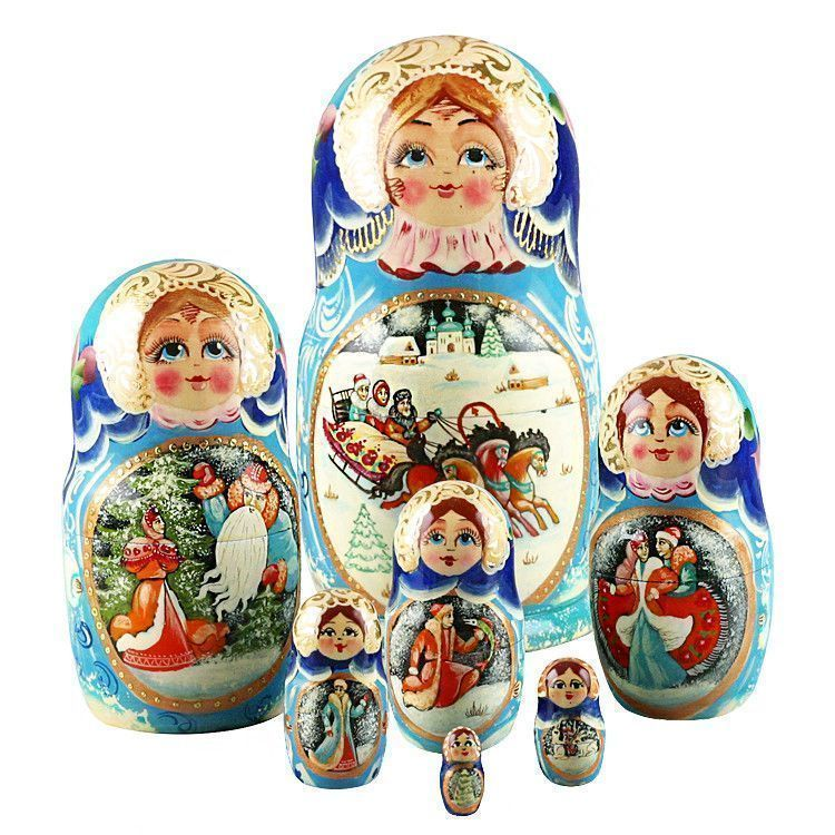 Winter Troika Ride Matryoshka