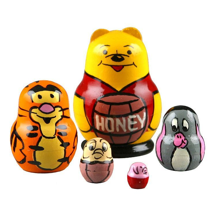 "1 1/2"" Tall Winnie The Pooh Stacking Doll"