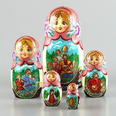 Russian Summer Fun Nesting Doll