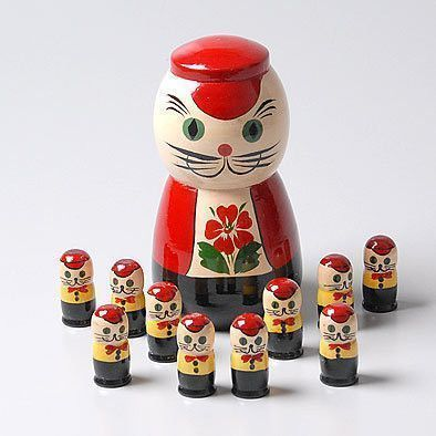 Cat with Kittens Counting Doll