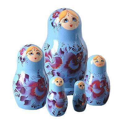 Blue Little Beauty Matreshka