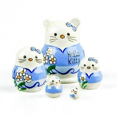 "Tiny 1 1/4"" Hello Kitty Babushka"