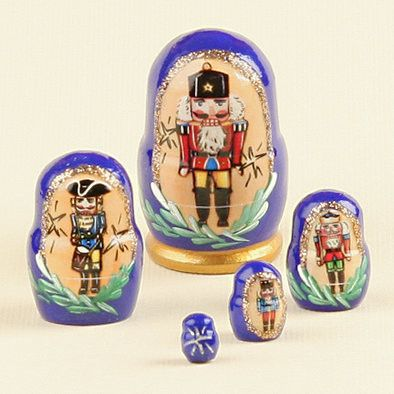 "1 1/2"" Tall Tiny Nutcracker Nesting Doll"