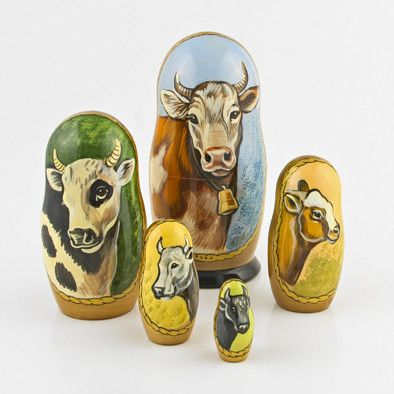 Cows Nesting Doll