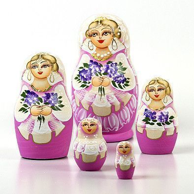 Bouquet Of Lilacs Matryoshka \Doll