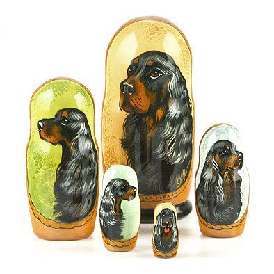 Scottish Setter Nesting Doll