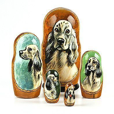 English Setter Nested Doll