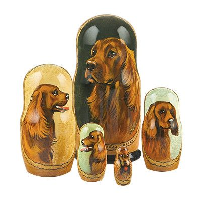 Irish Setter Stacking Doll