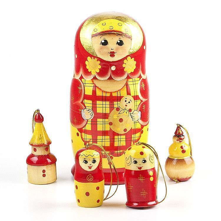 Nested X-Mas Ornaments Doll