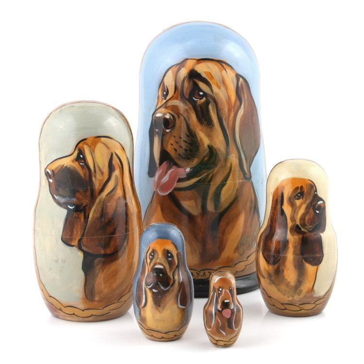 Bloodhound Russian Stacking Doll