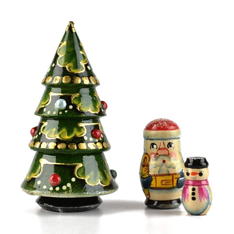 Christmas Tree 3pc Nesting Doll