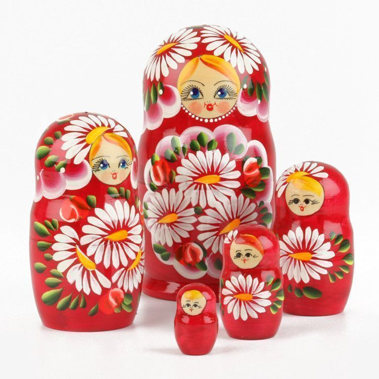 Red Doll with Daisies