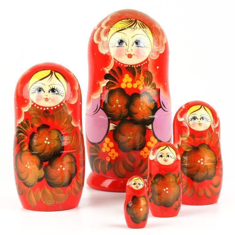 Red Floral Matryoshka Set