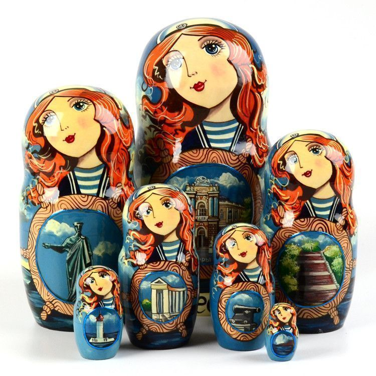 Beautiful Odessa Stacking Doll