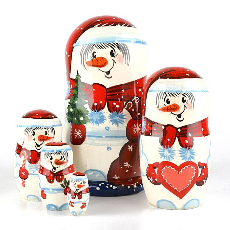 Super Cute Snowman Family Matryoshka