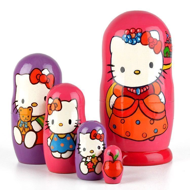 Hello Kitty 5pc Nesting Doll
