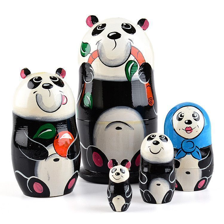 Adorable Panda Nested Doll