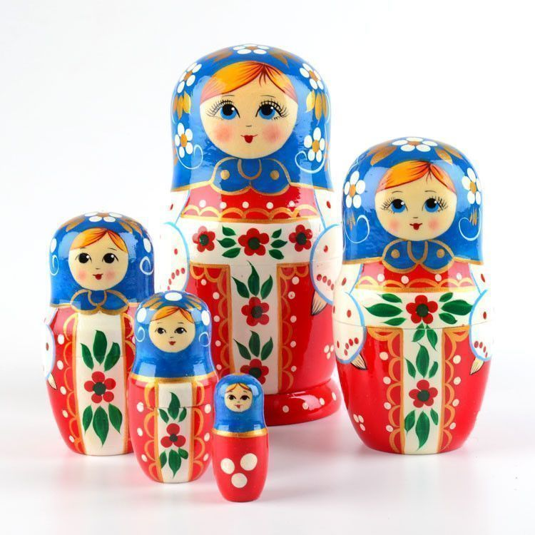 Red and Blue Nesting Doll