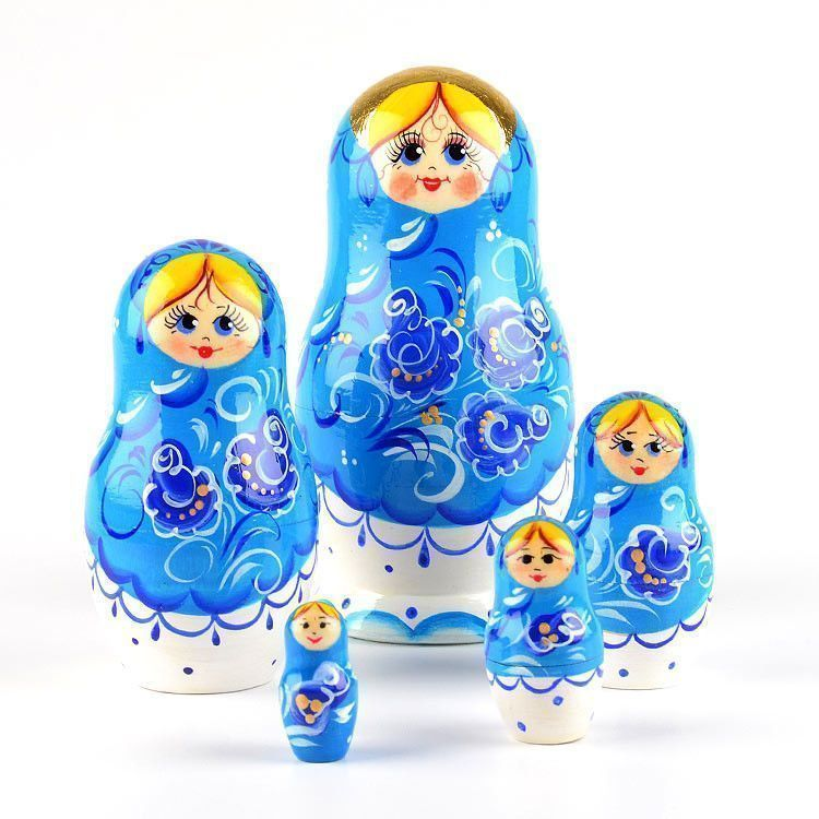 Blue Beauty Nesting Doll