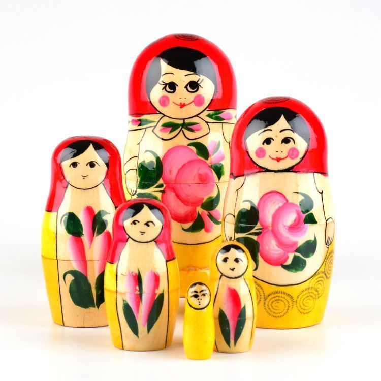 Traditional Doll with Pink Flowers