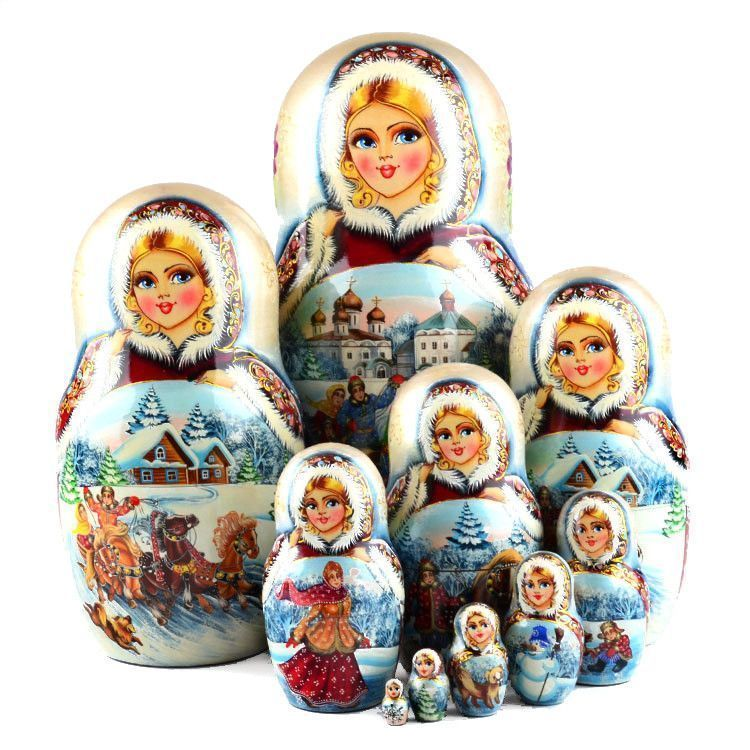 Collectible Beautiful Troika Matryoshka